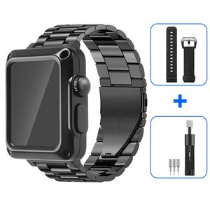 Metal Case for Apple Watch 6 5 4 Band 44mm 40mm protective case built-in tempered glass for iwatch 3 2 1 38mm 42mm