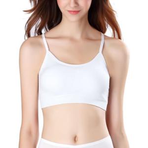 Mulheres Esporte Bra Gym safra que Tops Preto Branco acolchoado Criss Cross Voltar Yoga Bra respirável Wirefree Academia Esporte ST