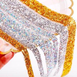 Sıcak Fix kendinden yapışkanlı 40cm Kristal Akrilik Rhinestones Sticker Bant Scrapbooking Sanat Dekorasyon DHA963 için Craft Glitter Gem DIY Çıkartma