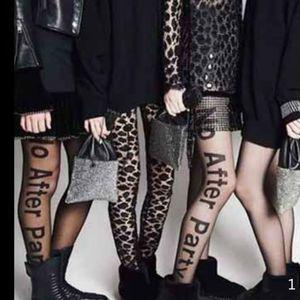 """뜨거운 판매 여자의 섹시한 스타킹 여자 문자 여성 바닥을 얇은 팬티 스타킹 2020 패션 파티 스타킹 """"파티 후 아니오""""편지 인쇄"""