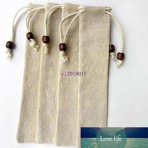 200pcs Cotton Chopstick Sleeve Simple Tableware Bundle Pocket Household Kitchen Accessories Flax Packing Storage Bag Home Decor