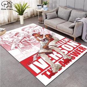 Súper impresión alfombra guapo de baloncesto de celebridades sala de estar 3D alfombra pasillo felpudo absorben cuarto de baño antideslizante alfombras de los niños