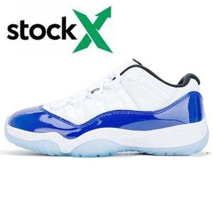 11 11S Jumpman نساء العلامة التجارية الأعلى Basketballl أحذية ولدت العليا كونكورد الأزرق منخفضة أورانج الغيبوبة الزيتون فاخر مصمم رجال الرياضة أحذية رياضية 5،5 حتي 13