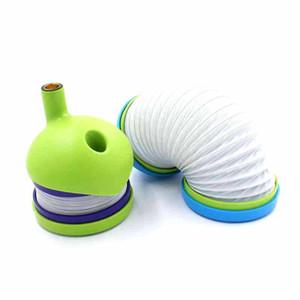 Nouveaux Pipes Portable Cigarette Creative flexible pliant en plastique tuyau Caterpillars Fancy Tobacco Pipe