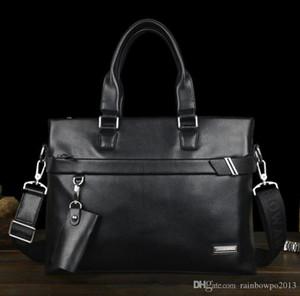 Factory wholesale men handbag soft and comfortable business briefcase large capacity laptop fashion leather shoulder bag