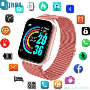 Часы JBRL нержавеющей стали SmartWatch Женщины Мужчины Спорт Tracker Электроника Часы для Android IOS Fashion Square Смарт Часы Часы