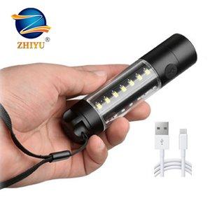 Zhiyu ultra luminoso T6 COB USB ricaricabile Camping lavoro lampade Big piccole luci 14500 18650 Flash 6 modalità di commercio all'ingrosso