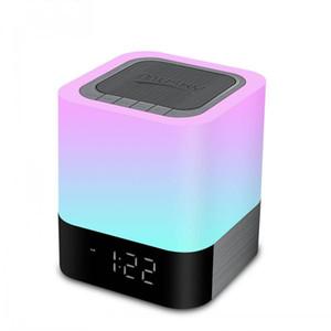 Led 빛 램프와 알람 시계 AUX 사향 DY28 플러스와 무선 블루투스 스피커 휴대용 HIFI 스테레오 서브 우퍼 스피커