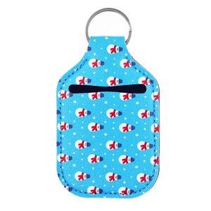 12X6 cm Perfume Bottle Titular chaveiro de couro falso Hand Sanitizer Chaveiro Durável e para garrafas de 30ml