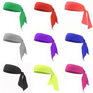 Elastik Bantlar Düğüm Saç bandı Polyester Kumaş Muti Renk Moda Saç Bantları Erkek Kadın Fit Tedarik Dış Mekan Spor Coverchief 4gy C2 koyun