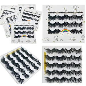 *Free Shipping ePacket New 10 Pairs 3D Mink Lashes 25mm Fluffy Messy False Eyelashes Handmade Dramatic Long Natural Lashes Mink Eyelashes!