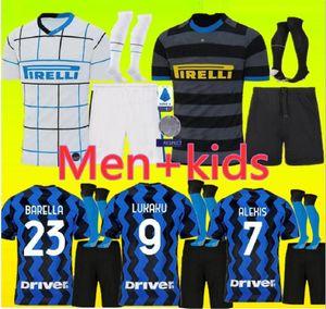 Lukaku LAUTARO Škriniar Inter 19 20 21 jersey ALEXIS GODIN BARELLA maillots de football Milan 19 20 chemises de football kit top jeux pour enfants Hommes uniforme