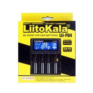 Liitokala Lii-PD4 Charger pode carregar 4 baterias 1.2V 3.7V apoio 18650 18350 21700 26650 20700B 1.2V AA AAA NiMH bateria de lítio Carregador