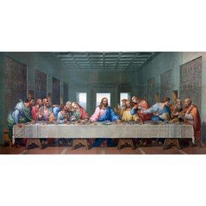 Dipinti HD Canvas Prints Leonardo Da Vinci Il ritratto di arte dell'immagine della parete della decorazione della casa Last Supper Poster