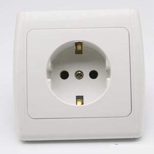 Presa doppio Plug stile europeo Usb Port adattatore caricatore della parete ricaricabile 2a adattatore caricatore della parete White Power Pop-up Socket Ce
