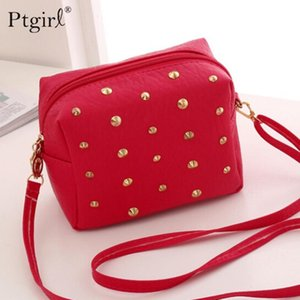 Rivet Mini Bags for Women 2020 Leather Messenger Bags Shoulder Bag Women Crossbody Female Handbags Ladies Cute Bolsas Femininas