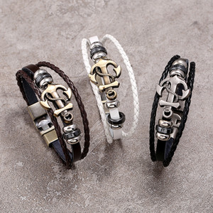 Luxury jewelry punk bangles blend style a large number of fashion jewelry wholesale leather infinite charm bracelets antique accessories val