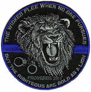 Top-Qualität Der Gerechte Bold As A Lion Patch für Law Enforcement Real Man Chest Jacke Eisen auf Flecken-freies Verschiffen 60gN #