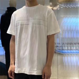 20SS Tam Desen Fleece Tee Moda High Street Kısa Kollu Yaz Casual Tişört Katı Renk Nefes Erkekler Kadınlar Yumuşak Tee HFYMTX632
