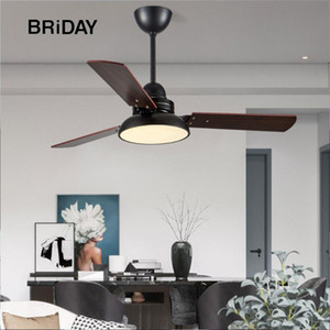 Nordic 48 inch ceiling fan with lights remote control ceeling wooden lamps ventilator lamp bedroom decor modern fans white 110v