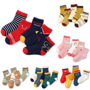 39 Styles Kids new baby boy girl socks children cotton socks good quality Cotton Soft Socks Baby Candy Color stockings lxj201