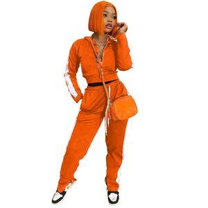 Panelled Designer Womens Tracksuit Fashion Cardigan Lapel Neck Two Piece Set Ladies Sports Casual Clothiing Split