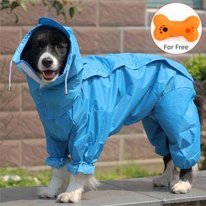 Large Dog Raincoat Waterproof Rain Clothes Jumpsuit for Big Medium Small Dogs Golden Retriever Outdoor Pet Clothing Coat