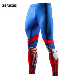 Men Skinny Pants High Quality 3D Pattern Pants Bodybuilding Jogger Fitness Skinny Leggings Trousers Sportswear Yoga Bottoms 201004