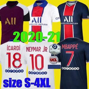 boyut S - 4XL MBAPPE NEYMAR JR Maillots formalarını 20 21 CAVANI Icardi futbol forması 2020 2021 DI MARIA maillot de foot de