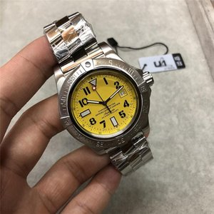 2020 fábrica U1 nueva venta superior 2813 del reloj automático de los hombres Súper Océano amarillo Dial inoxidable 316 de 42 mm Banda mecánico de pulsera shiping libre