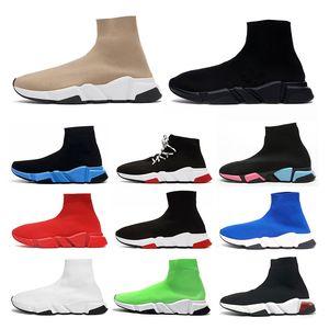 hommes femmes speed trainer Baskets Chaussures de sport femme Tripler Black designer de luxe chaussures de sport glitter étoile chaussettes bottes coureurs chaussettes