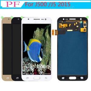 Parlaklık Ayarlanabilir Tft için Samsung Galaxy J5 / J500f J500 / J5m / J5 2015 Ekran Dokunmatik Ekran Sayısallaştırıcı Meclisi Lcd Yedek