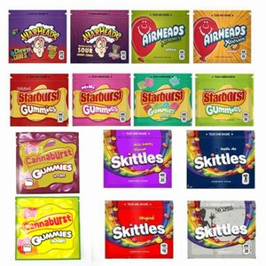 YENİ SAVAŞ BAŞLIĞI Çanta Airheads Xtremes patlaması gummies Skittles Cannaburst ERRLLI Gökkuşağı Boş Mylar Çanta Fermuar Paketi 400mg Packaging