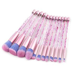 High Quality 12pcs Mermaid Makeup Brush Set Quicksand Crystal Makeup Brushes Professional Make Up Tools