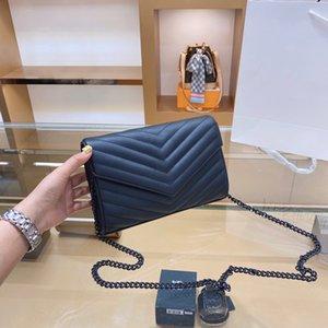 2020 New Lady Big Marke Retro Handtasche Dame Hand Lady Mode Umhängetasche Messenger Bag Handtasche Kette Twill All Match Umhängetasche