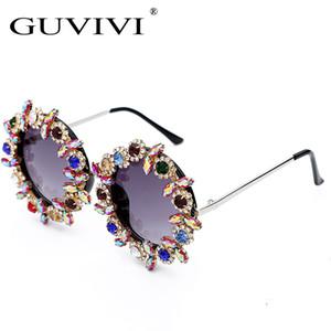 GUVIVI UV400 de aduanas 2019 gafas de sol mayor del OEM de las mujeres hechas a mano glasses_sunglasses Ronda de Sun