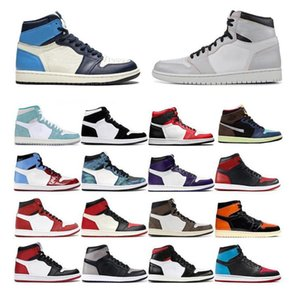 2020 High outdoor basketball shoes 1s Obsidian Ture Grey aj Fearless men women NakeskinJordan 1 sports trainers sneakers size 36 y8vH#
