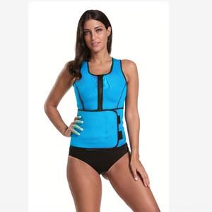 Karın korsemi kapalı yelek fermuar ThinClothes Sıcak Shapewear shapewear neopren kadın vücudu şekillendiren giysi ısıtma spor