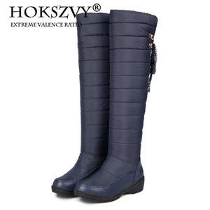 Snow Boots Women's High Winter Waterproof Non-slip Pregnant Women Plus Velvet Warm Cotton Shoes Down Boots HX-82