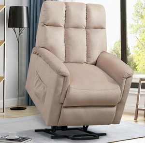 US STOCK ORI FUR. Power Lift Soft Chair Fabric Recliner Salon Salon Canapé avec PP038656EAA Télécommande