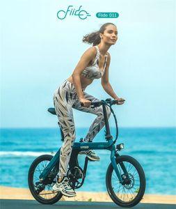 De valores en la UE! FIIDO D11 100 kilometros de bicicleta eléctrica plegable ciclismo urbano Ebike Shifting Neumáticos Versión 20inch 250W Motor Max 25 kmh