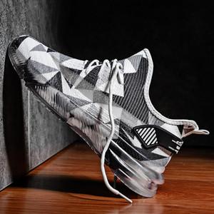 ACGICEA Homens tênis preto de malha respirável sapatas Running Men Lace Up antiderrapantes Athletic Sapatilhas verão ao ar livre Esporte Formadores
