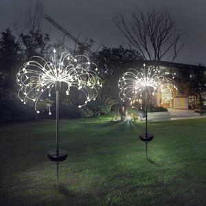 Feux d'artifice solaire lumières LED étanche jardin extérieur Guirlandes lampe Décorations de mariage Lumières de Noël Décorations de jardin