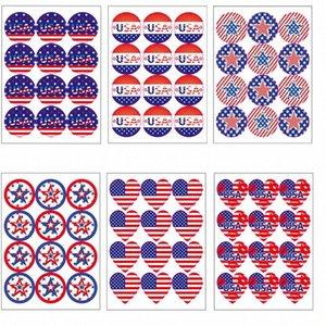 12 PC / sistema Sticker 2020 Trump Elección Suministros de América Bandera de Estados Unidos de América pegatinas Día de la Independencia de pegatinas de envío gratuito DHB205 aYtD #