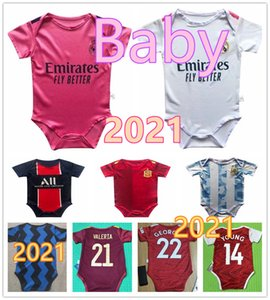 Maillot bébé France psg 20 20 Paris Saint-Germain Real Madrid  Bayern Munich Chelsea maillot de football bébé 6-18 mois maillot de football