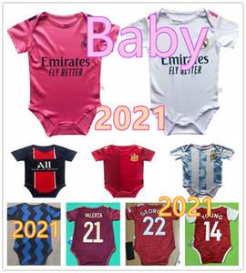 jersey del bebé  2020  España Real Madrid  psg París Chelsea Man United Liverpool bebé camiseta de fútbol de 6-18 meses camisa del fútbol