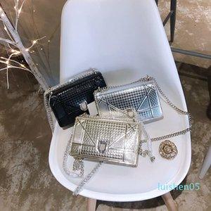 Sac à main sacs à main de luxe de haute qualité Mesdames chaîne épaule Sac en cuir verni diamant luxe Sacs de soirée bandouilière de L05