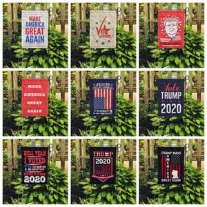 30 * 45CM Trump Bahçe Bayrak Amercia Başkanı Kampanyası Afişler 2020 Yeni Tasarım Makyaj Amerika Büyük Yine Polyester Bayraklar Banner VT1459