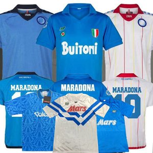 Rétro classique 1987 1988 1989 1991 1992 1993 maillot de football Napoli 87/88/89 91/93 MARADONA le football Chemise sport S-2XL