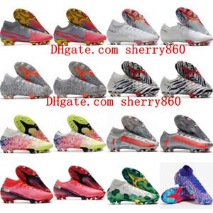 2020 erkek erkek futbol ayakkabıları Mercurial Superfly 7 Elite 13 FG futbol krampon kadın çocuk futbol ayakkabıları CR7 Neymar boyutu 35-45